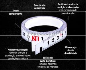 Fita métrica adesiva FAL3M Lufkin