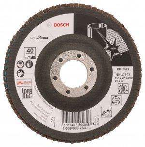 Disco Flap Disc 115 x 22 Grão 40 curvo Makita