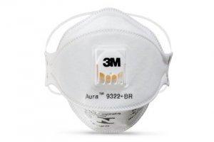 Máscara respiratória descartável aura 9322+BR PFF-2 3M