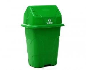 Lixeira Ecológica Capacidade 50 Litros Verde / Vidro