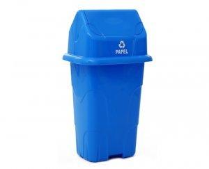 Lixeira Ecológica Capacidade 50 Litros Azul / Papel