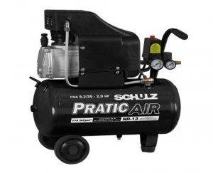 Compressor de Ar 8,2 Pés 25 Litros Mono 220V Schulz