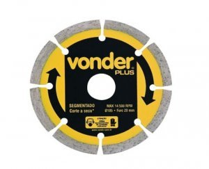 Disco Diamantado Segmentado 110 mm Vonder
