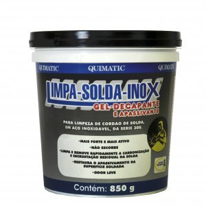 Limpa solda inox gel decapante apassivante 850 gr