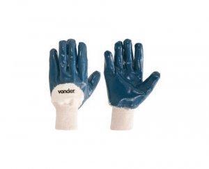 Luva malha / nitrílica azul tam.10 MNV 0001 Vonder