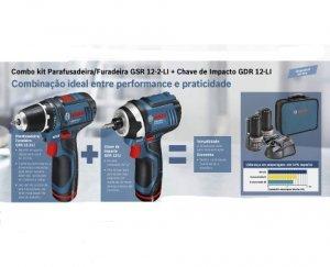 Kit combo Paraf/Furad. GSR12-2-LI + Chave imp.GDR12-LI Bosch