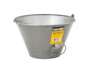 Balde métalico 10 litros para concreto  Vonder