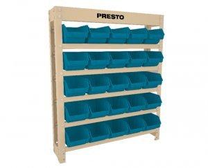 Kit Estante gaveteiro 25/3 azul cód.6101A Presto