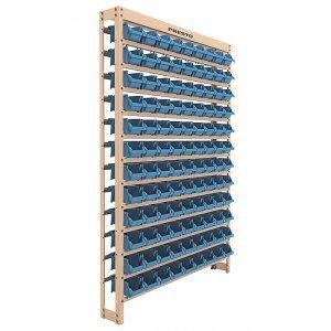 Kit Estante gaveteiro 108/3 azul cód.6104A Presto