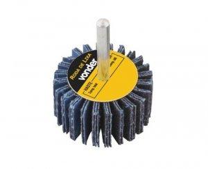 Roda de lixa 40 mm x 20 mm com haste - grão 60 Vonder