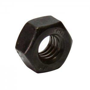 Porca Sextavada MA27 Passo 3 Ferro Oxidado e Oleada