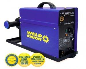Máquina solda MIG 130 monofásica Weld Vision