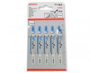 Lâmina de serra tico-tico T118A 5pçs Bosch