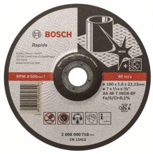 Disco de corte rápido 180 X 1,6 X 22,23mm Bosch
