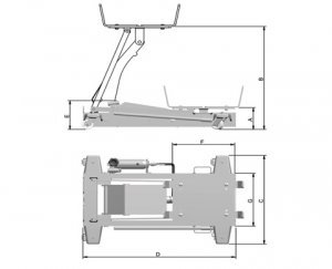 Macaco hidráulico para caixa de transmissão MCN1000 1000kg Bovenau