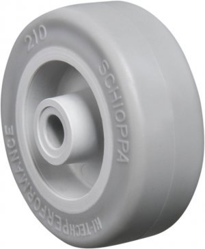 Roda - 210 SP-Soft Rubber Cor Cinza Claro 30kg