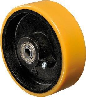 Roda - 42 PE- Poliuretano Moldado- Cor Amarelo 500kg
