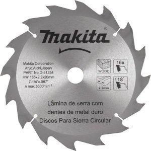 Lamina serra TCT 185mm x 20mm x 16 dentes Makita