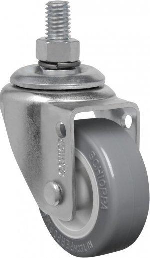 Rodízio Giratório C/ Freio/Espiga GLE 210 BP-PVC 30Kg