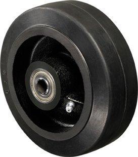 Roda - 72 BR-Borracha Moldada Cor Preto 325kg