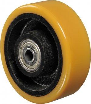 Roda - 514 PE-Poliuretano Cor Amarelo 300kg