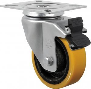 Rodízio giratório GL 614 PE-G 300 kg