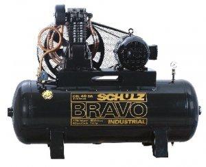 Compressor de ar  40 pés 250 Litros  Trifásico 380V Schulz