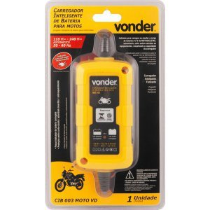 Carregador Inteligente de Bateria Bivolt Moto CIB 003 Vonder