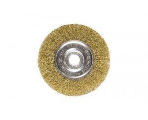 Escova circular ondulada 150mm com furo 22mm MTX