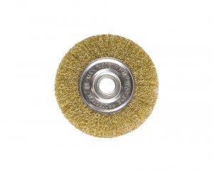 Escova circular ondulada 100mm com furo 22mm MTX