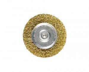 Escova circular 75mm com haste 6mm MTX