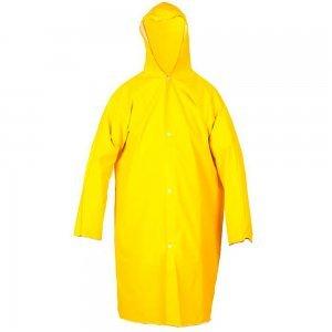 Capa de Chuva Amarela PVC Forrada Com Mangas G