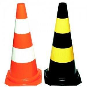 Cone CG 50007 Preto/Amarelo - Altura  50cm