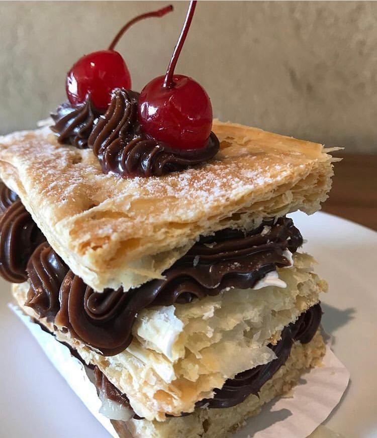 Massa Folhada Ganache de Chocolate