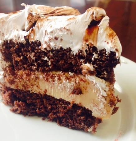 Bolo Marshmallow de Chocolate