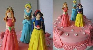 Bolo Temático Princesas