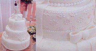 Bolo Casamento Rendas