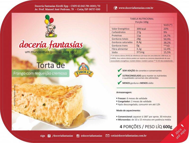 Torta Frango com Requeijão 600 grs