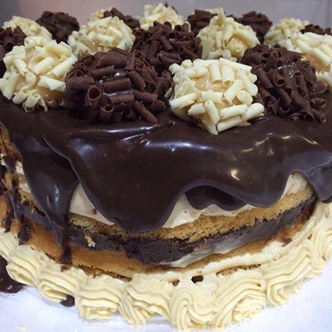 Naked cake Choconinho