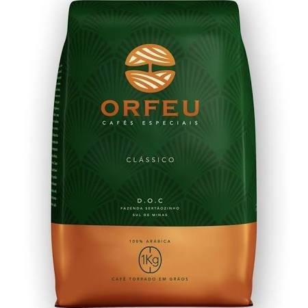 Café Orfeu - Clássico Torrado em Grãos 1 quilo (torra média )