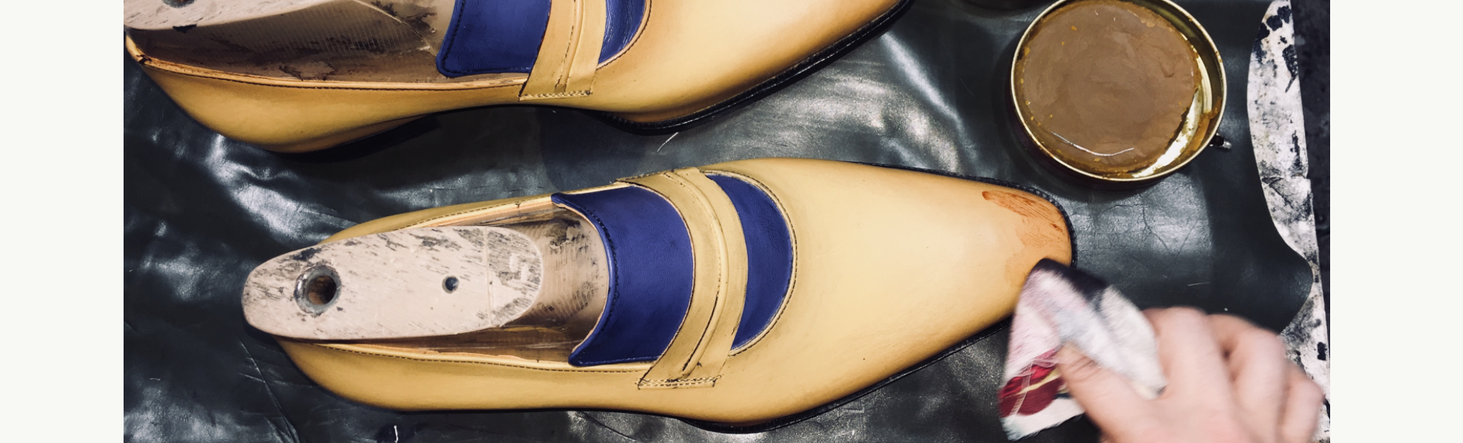 Sapato de couro masculino feito à mão E. Marchi