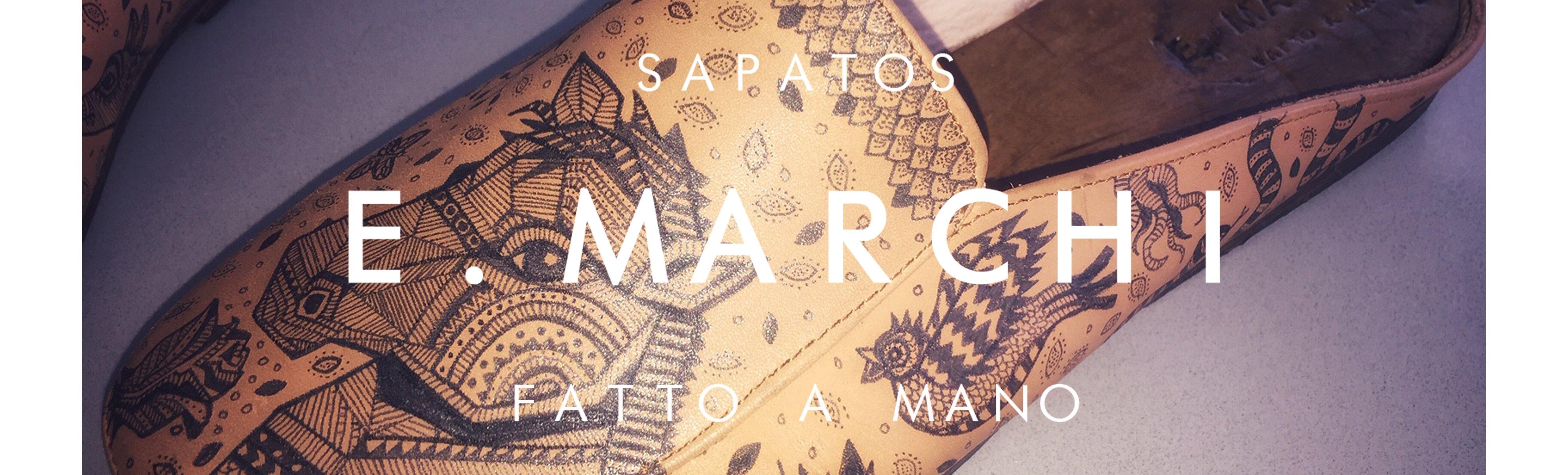 Mule Bruno pintada à mão Sapatos E. Marchi