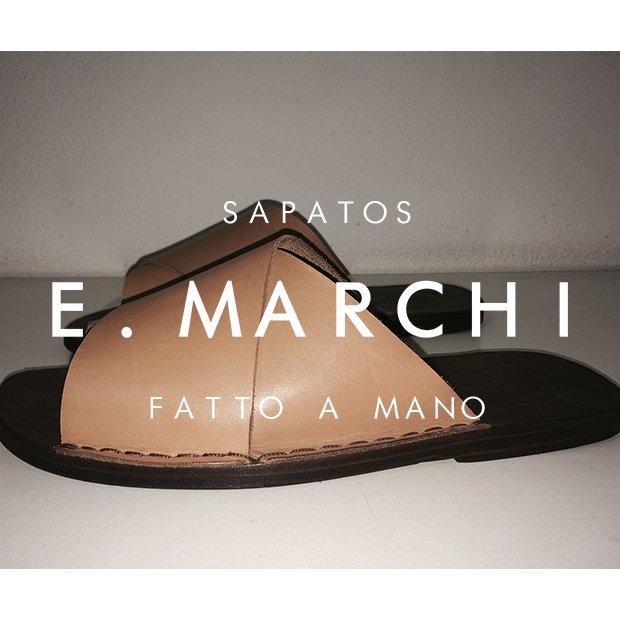Sandálias e chinelos de couro feitos a mão ao estilo italiano fabricado artesanalmebte