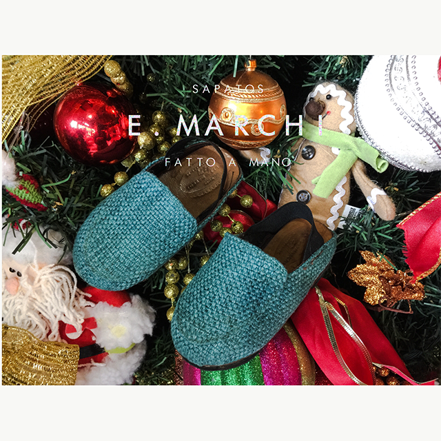Miniaturas Sapatos E. Marchi chinelo infantil de couro feito à mão fabricado artesanalmente com design italiano