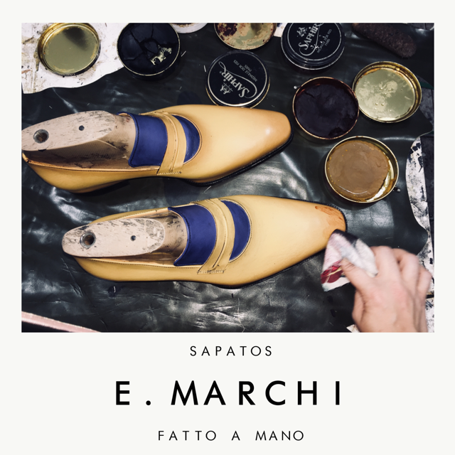 Sapato masculino de couro feito à mão Loafer E. Marchi