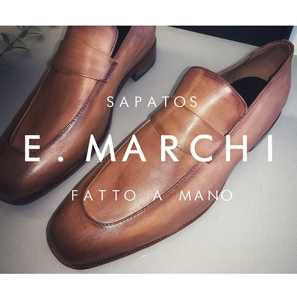 Sapato masculino exclusivo Loafer Lugano - Sapatos E. Marchi