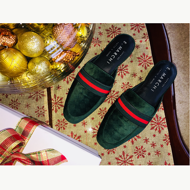 Mule masculina de couro feito à mao Sapatos E. Marchi fabricado artesanalmente com sola de couro