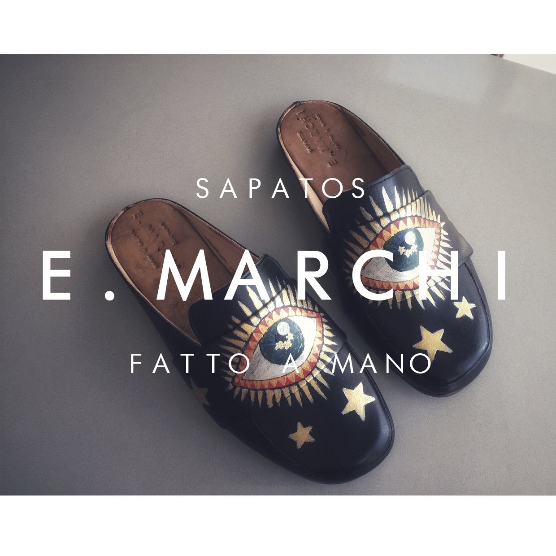 Mule Paola pintado à mão Sapatos E. Marchi
