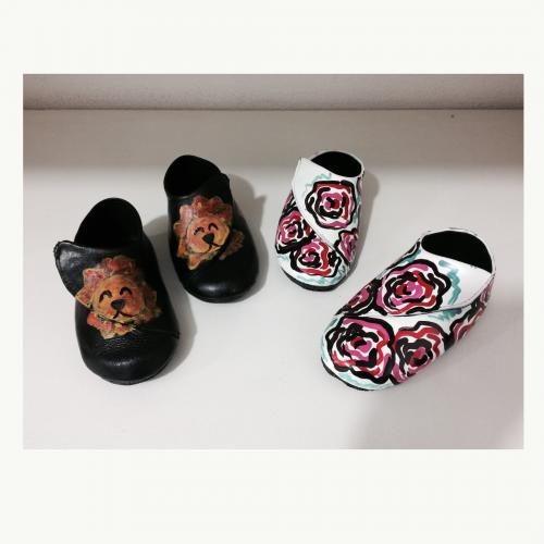 Sapato Branco Floral Miniatura