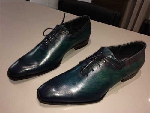 Oxford Wholecut E. Marchi Patina Verde